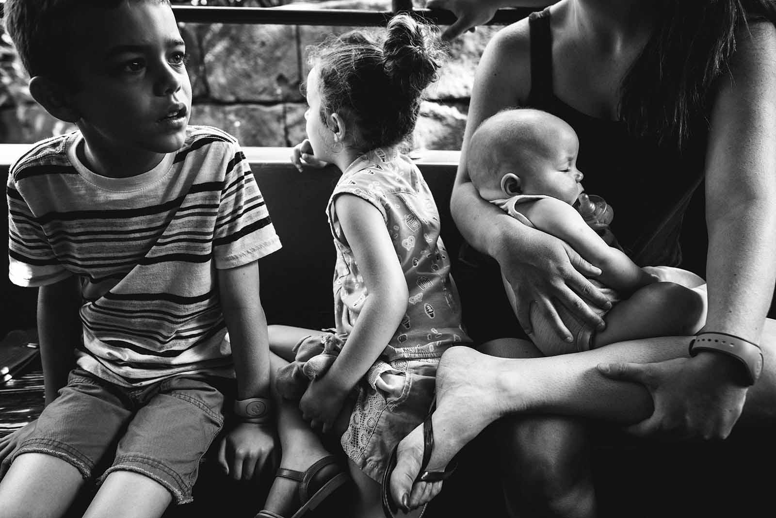 disney photo of child reaction black and white