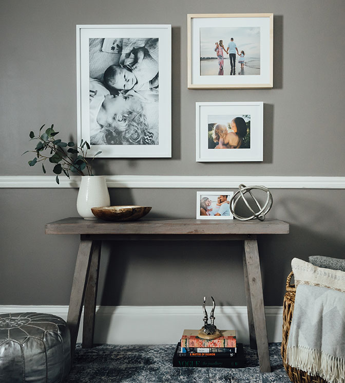 millers professional imaging photo decor frames on a wall display at home