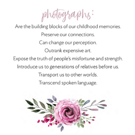 quote about photographs and why memories matter