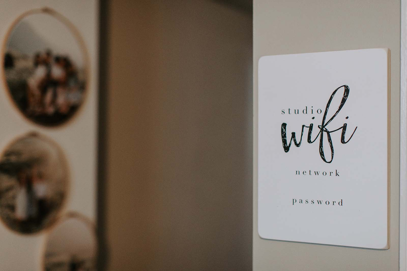 Newborn photography studio essentials - Wifi creates a great client experience