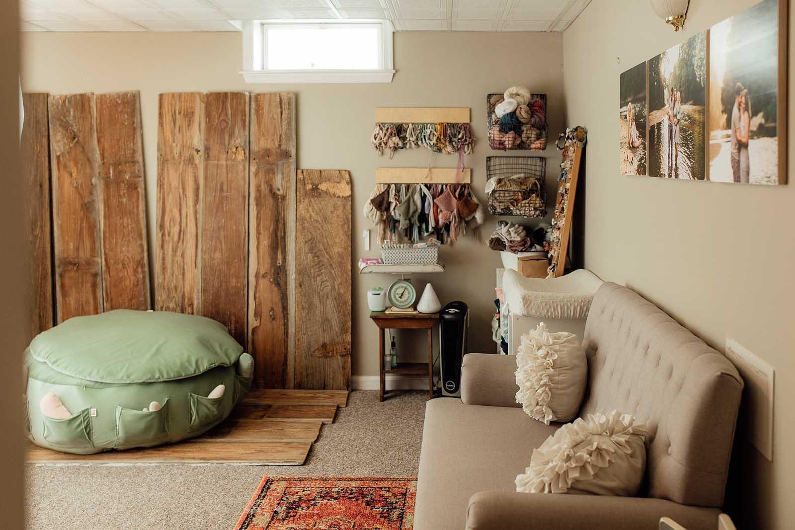 Winnie Bruce's newborn photography studio