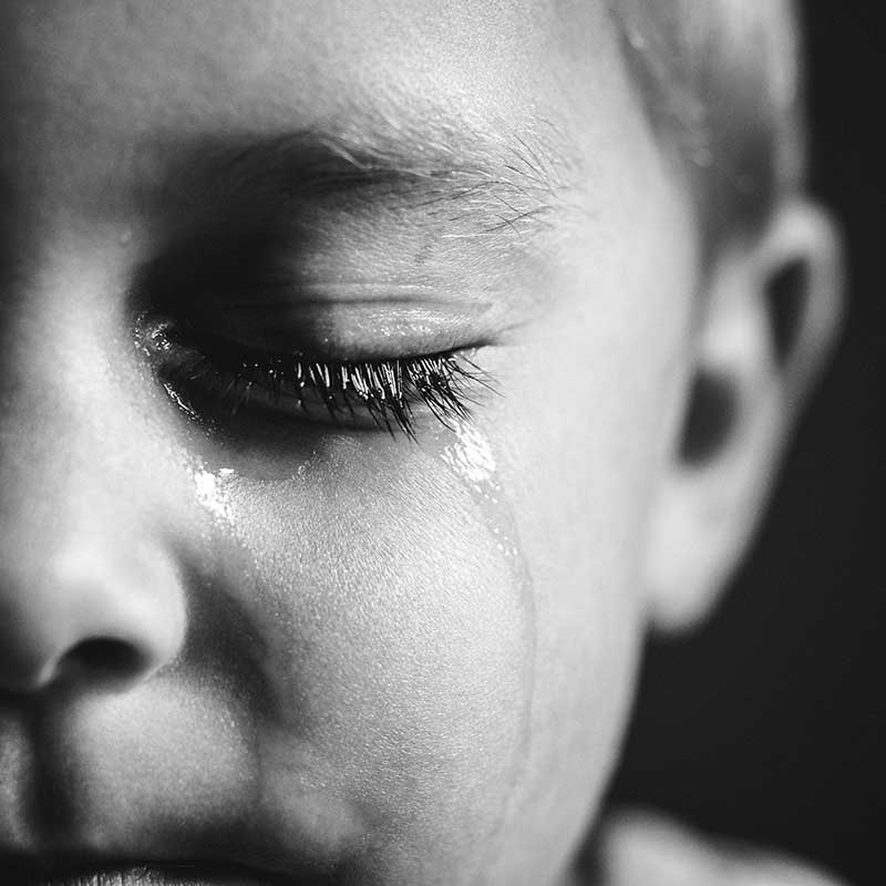 Why studying other genres makes you a better photographer, detail shot of boy crying.