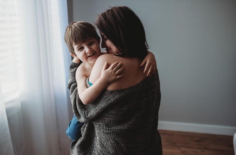 Self-portraits of motherhood