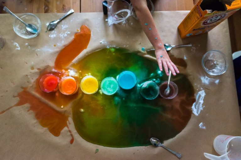 Rainbow colored pain on Adobe Stock Images