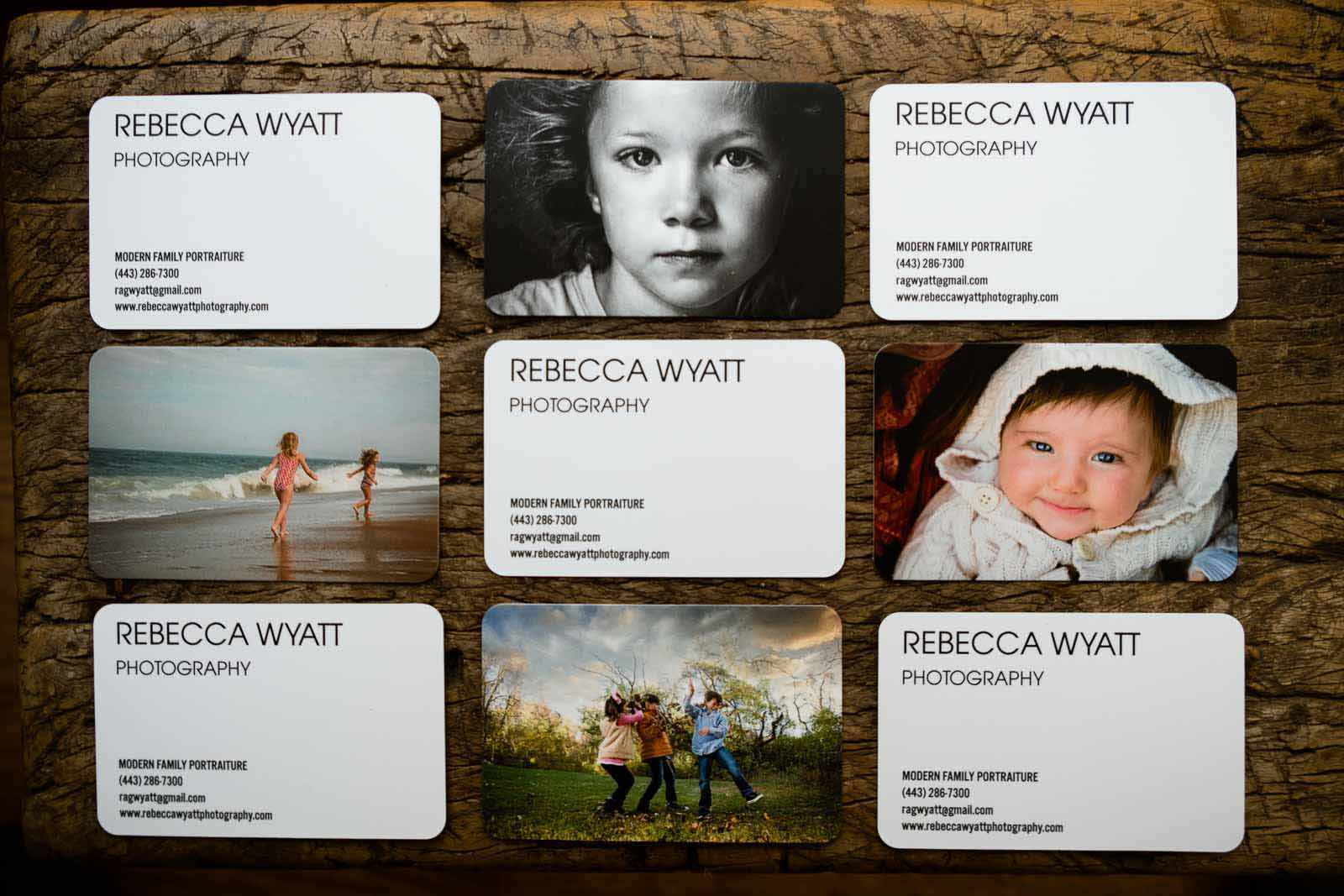 Rebecca Wyatt's business cards