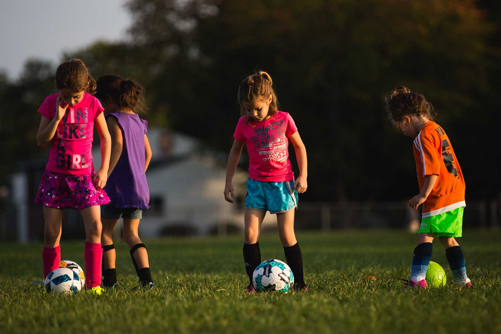 Kids playing soccer - a good place for in-person marketing