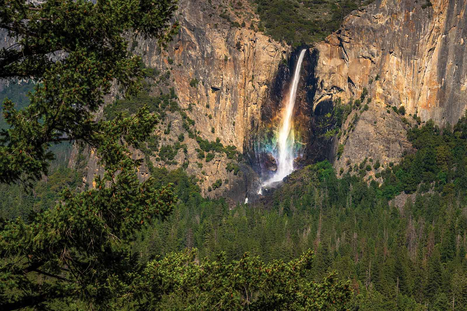 Bridalveil Rainbow captured with a Promaster tripod