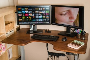 A standing desk can be a real game-changer for photographers