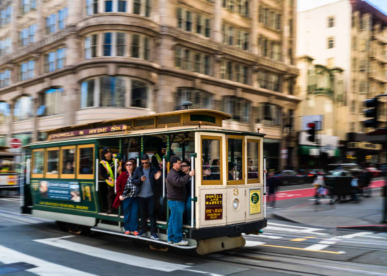 Creative photography technique of panning on a streetcar by Kathy Linford