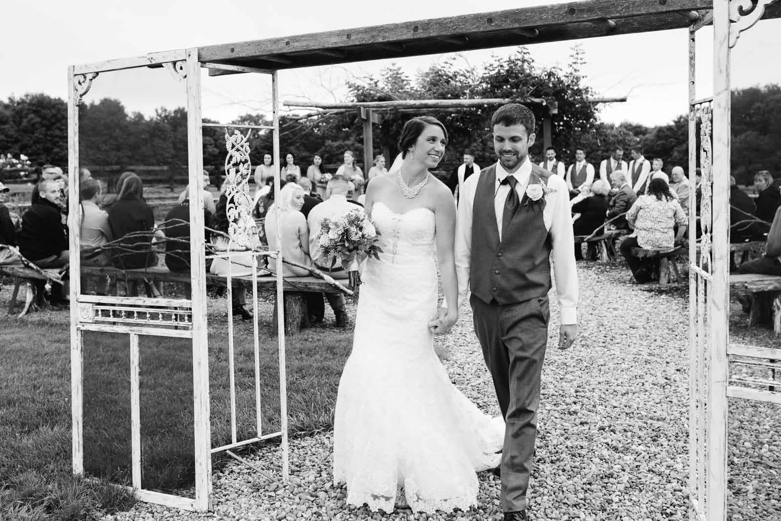 A bride and groom by second photographer Mariah Fisher