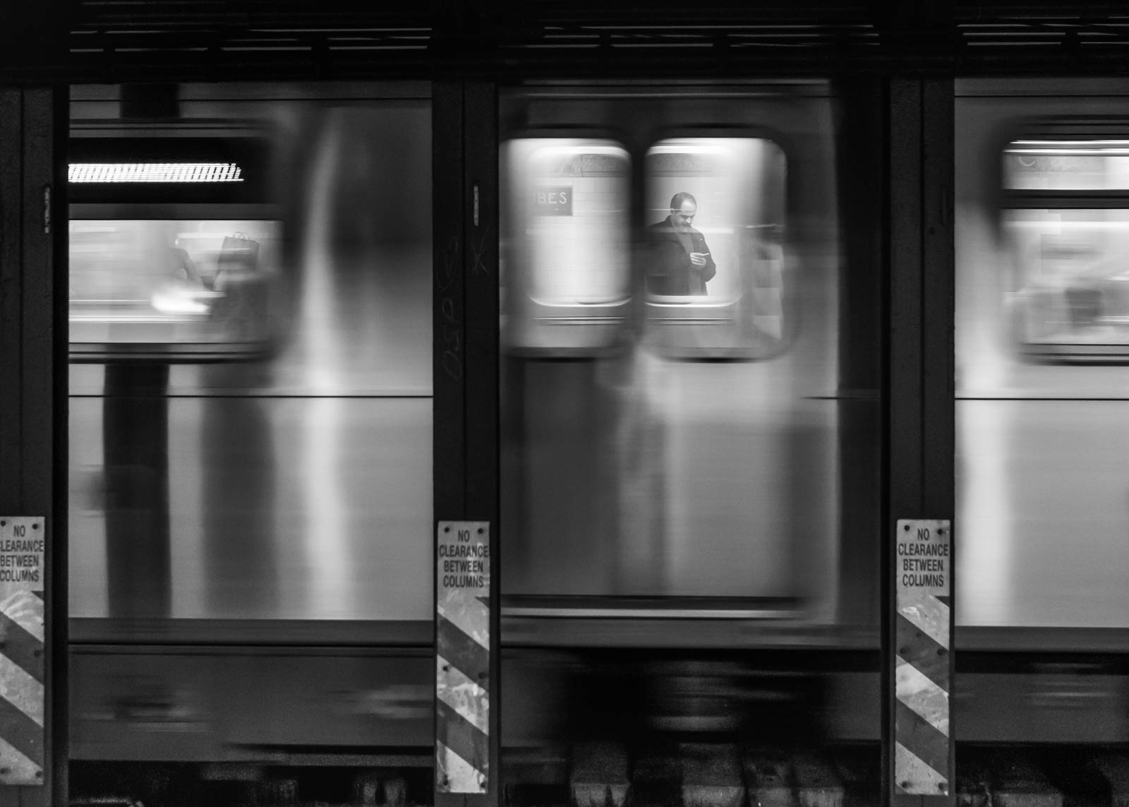Stop motion blur of a subway