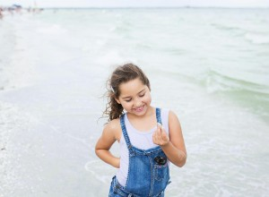 Girl at the beach taken with a 35mm art lens