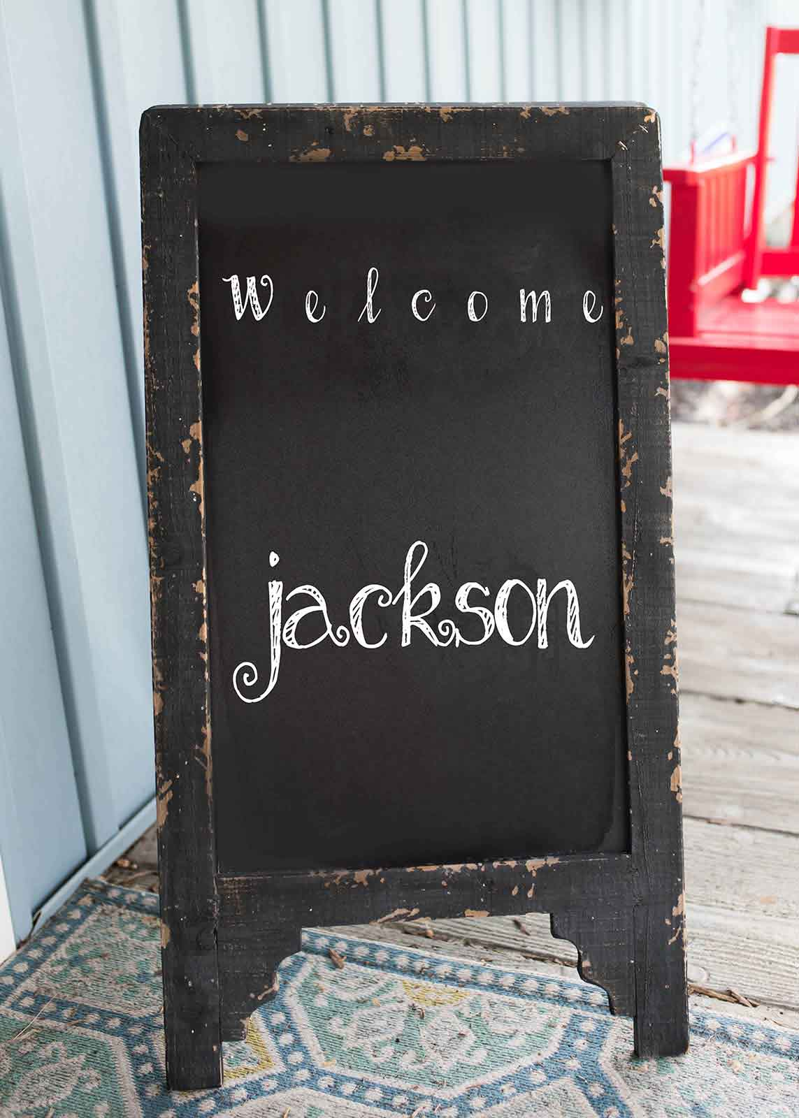 A welcome sign creates a great client experience for photographers