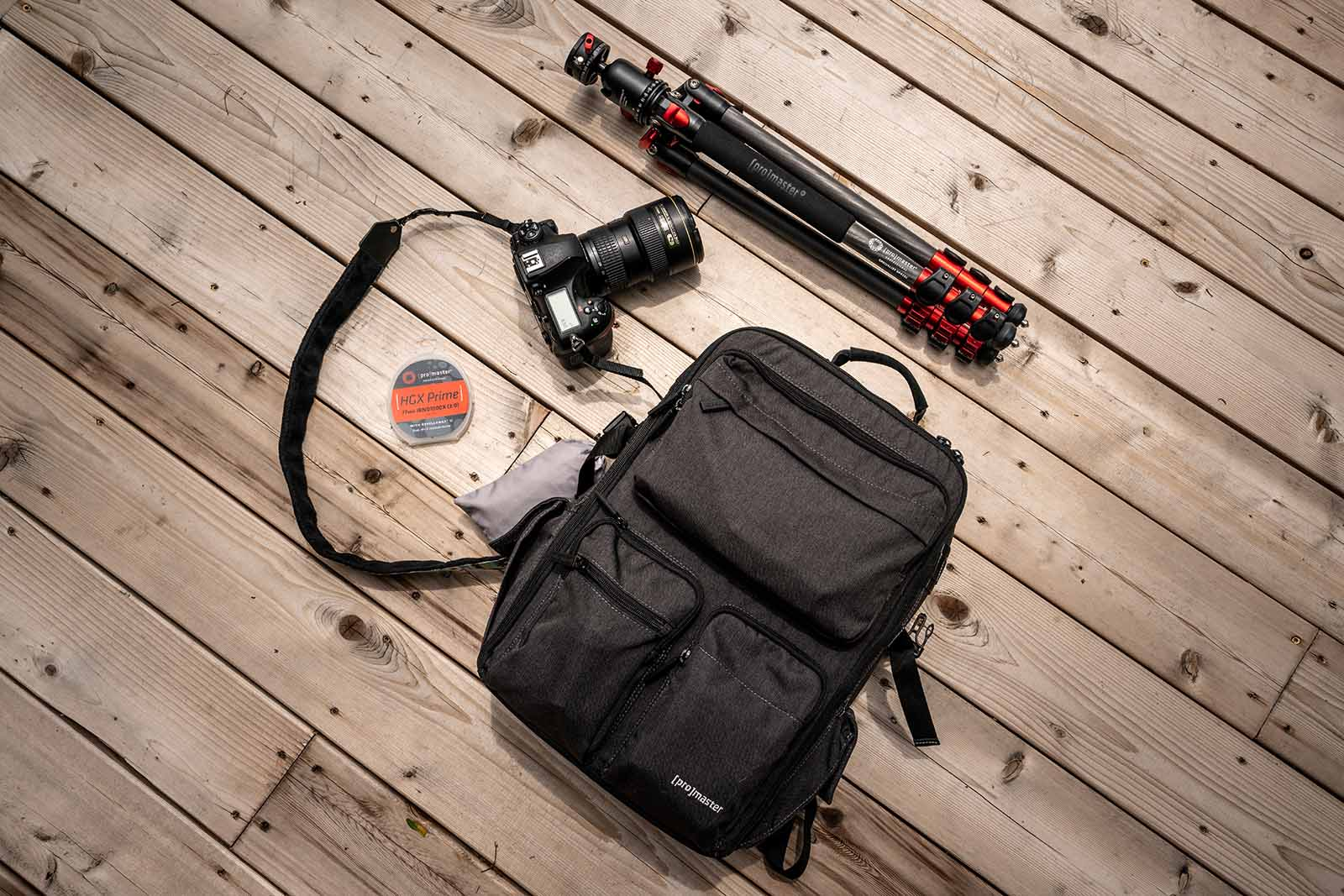 ProMaster backpack and tools