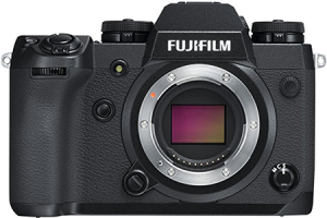 Fujifilm X-H1 mirrorless camera, great for travel photography and hiking with your gear
