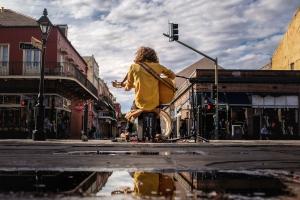 Street musician at Decatur: Asher Danzinger