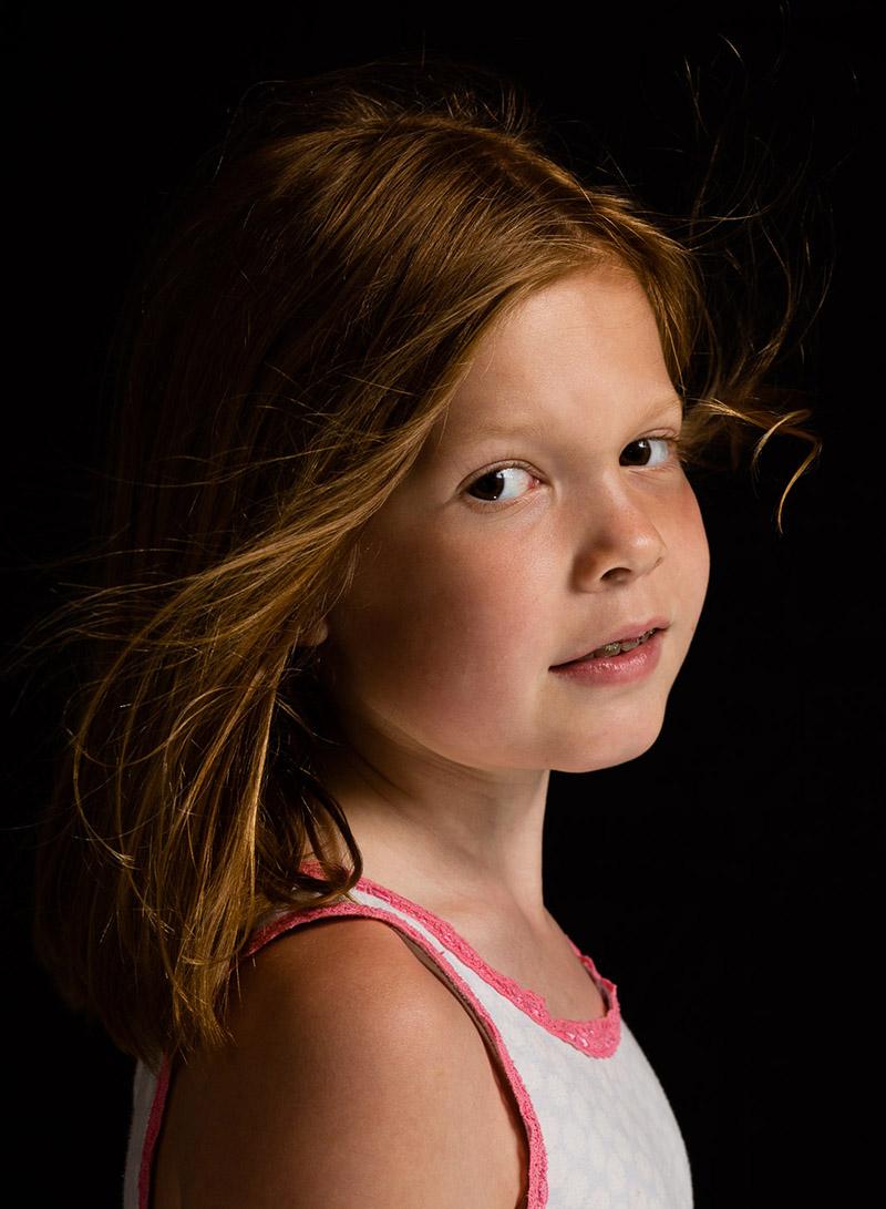Basement photo studio portrait