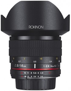 Rokinon 14mm wide-angle lens for travel photography