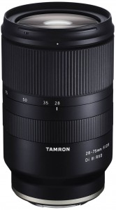 Tamron 28-75mm new photography lens