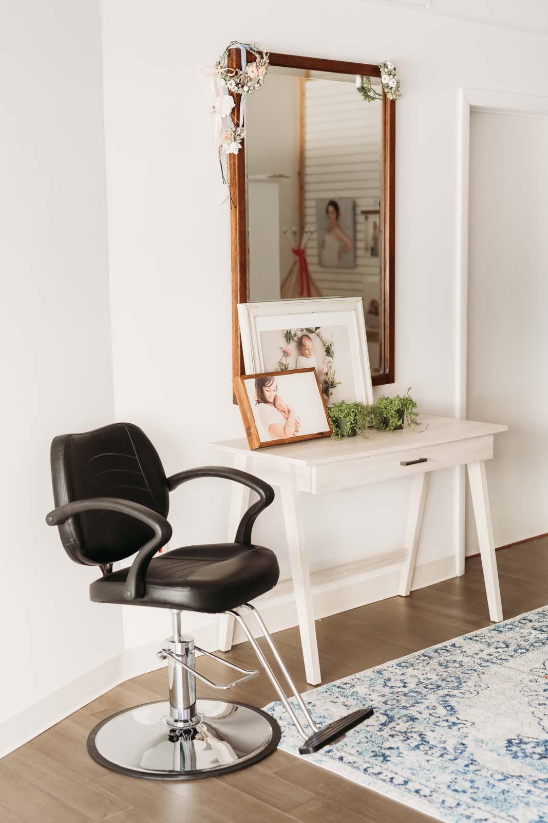 Client makeup area - after renovation