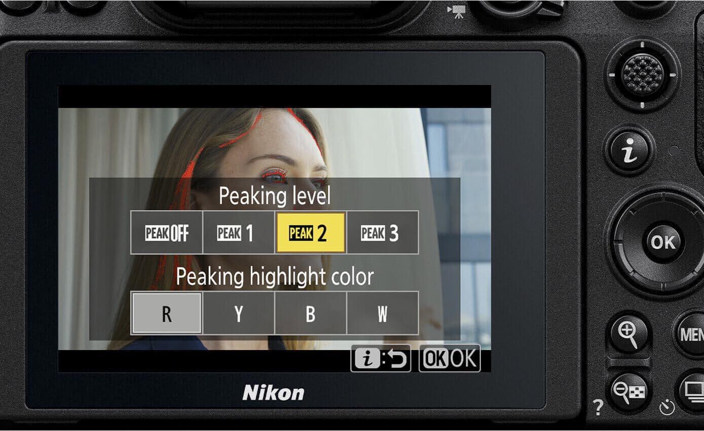 Nikon peaking levels