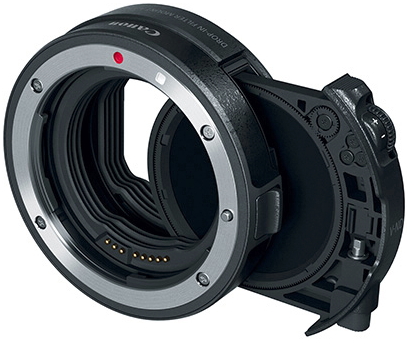 Canon filter adapter with ND filter for EOS-R mirrorless camera