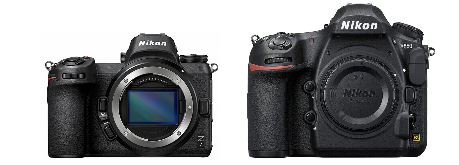 The Nikon Z7 is significantly smaller than the Nikon D850.