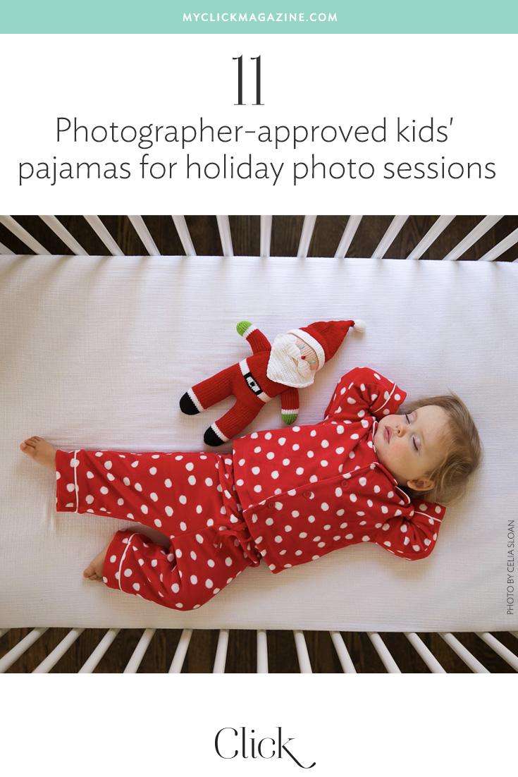 Photo-friendly kids' holiday pajamas