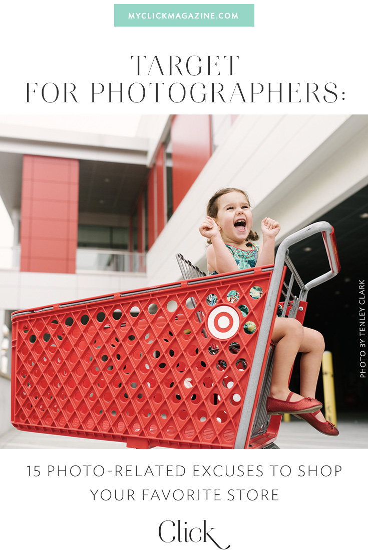 Are you a Target-obsessed photographer? Yes? Then you gotta see Tenley Clark's guide to Target for photographers. Seriously, you need this stuff...