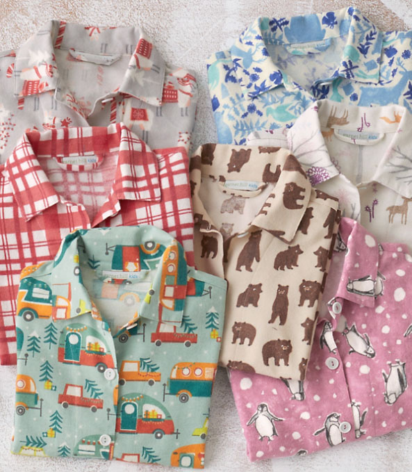 Holiday pajamas from Garnett Hill