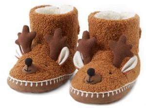 Photo friendly holiday pajamas - reindeer slippers