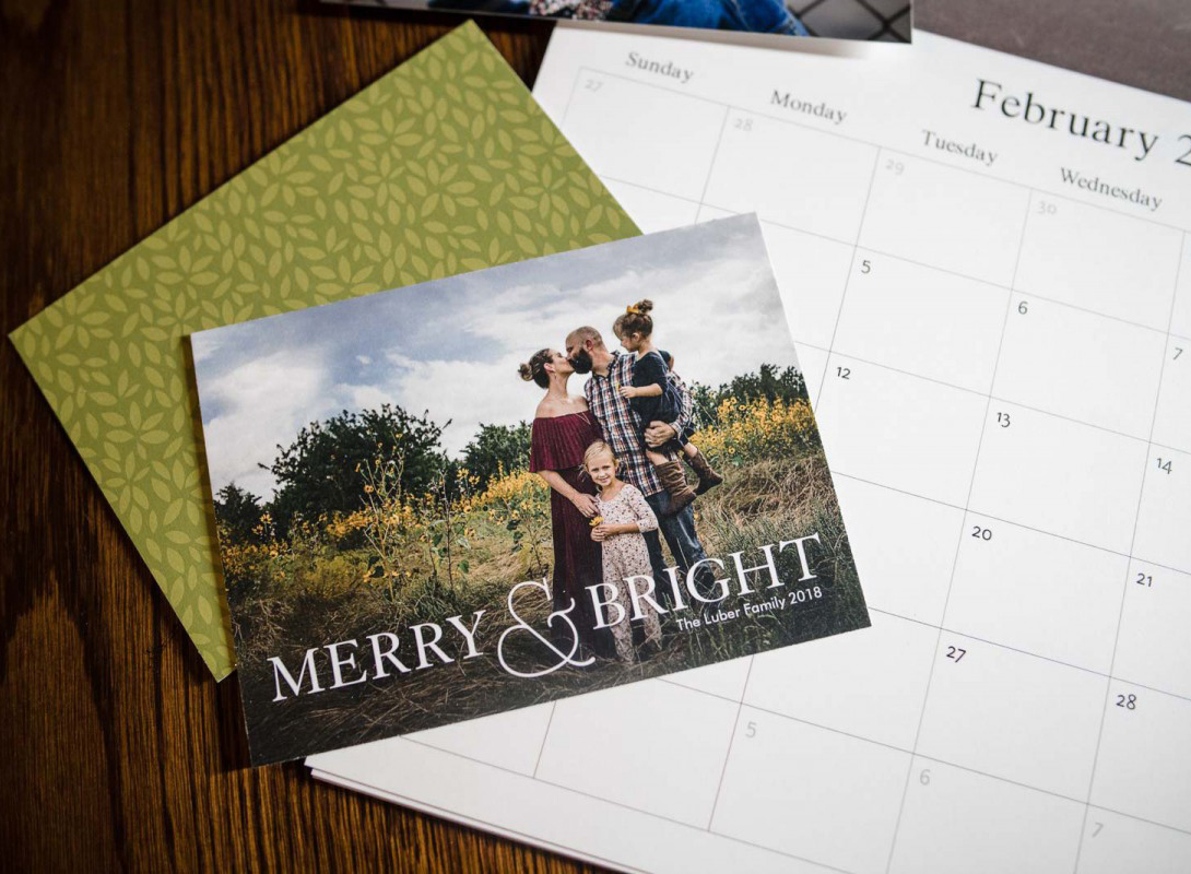 A holiday card printed by Mpix shows the importance of preparing digital images for print