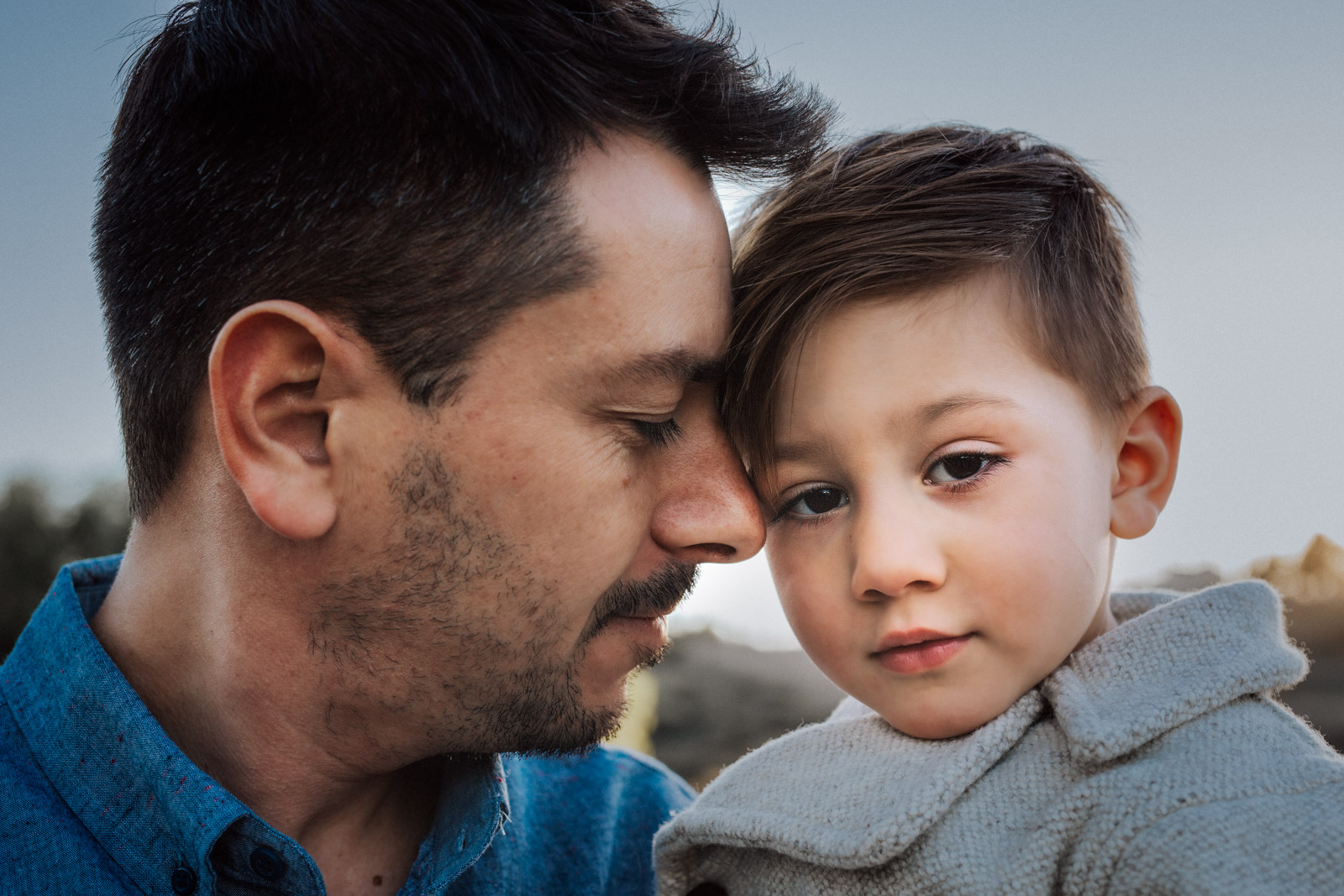 How to photograph special needs children - A father and son share a moment