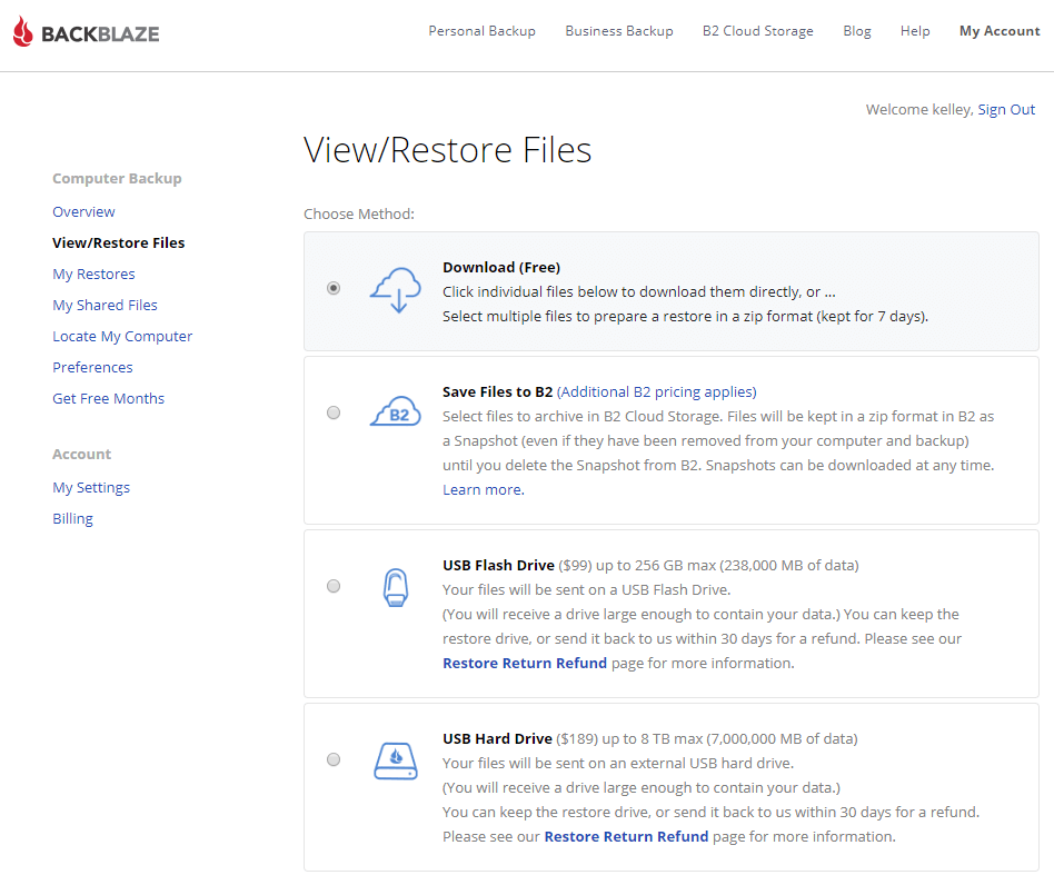 Backblaze cloud backup solution