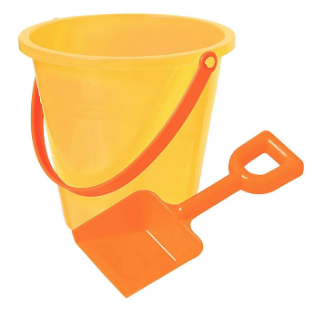 sand bucket photo prop