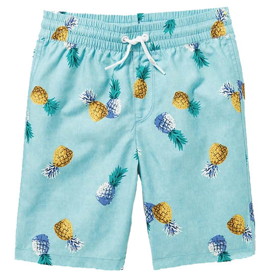 Pineapple swim trunks for boys from Old Navy