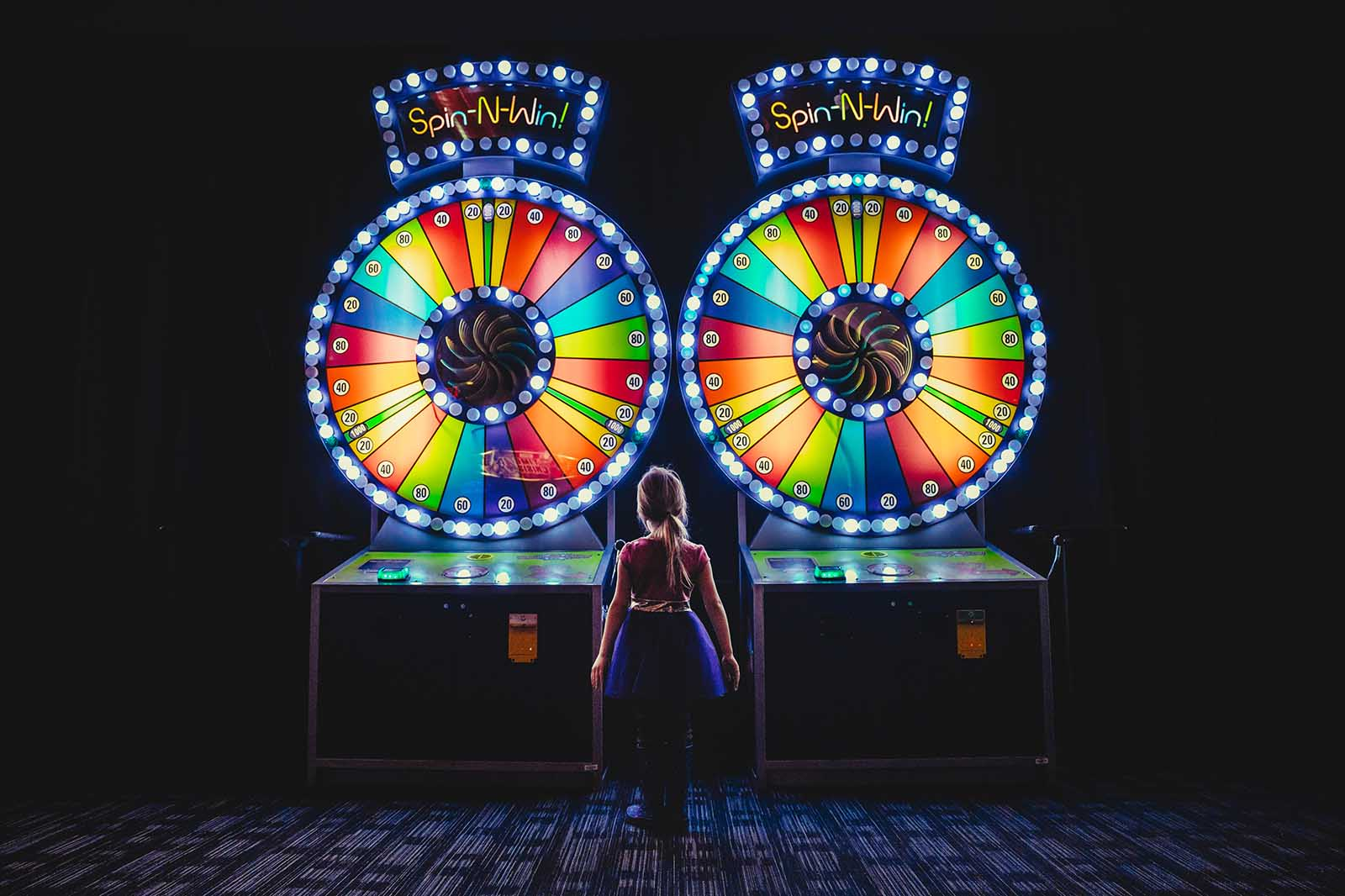 Colorful photo taken at Dave and Busters