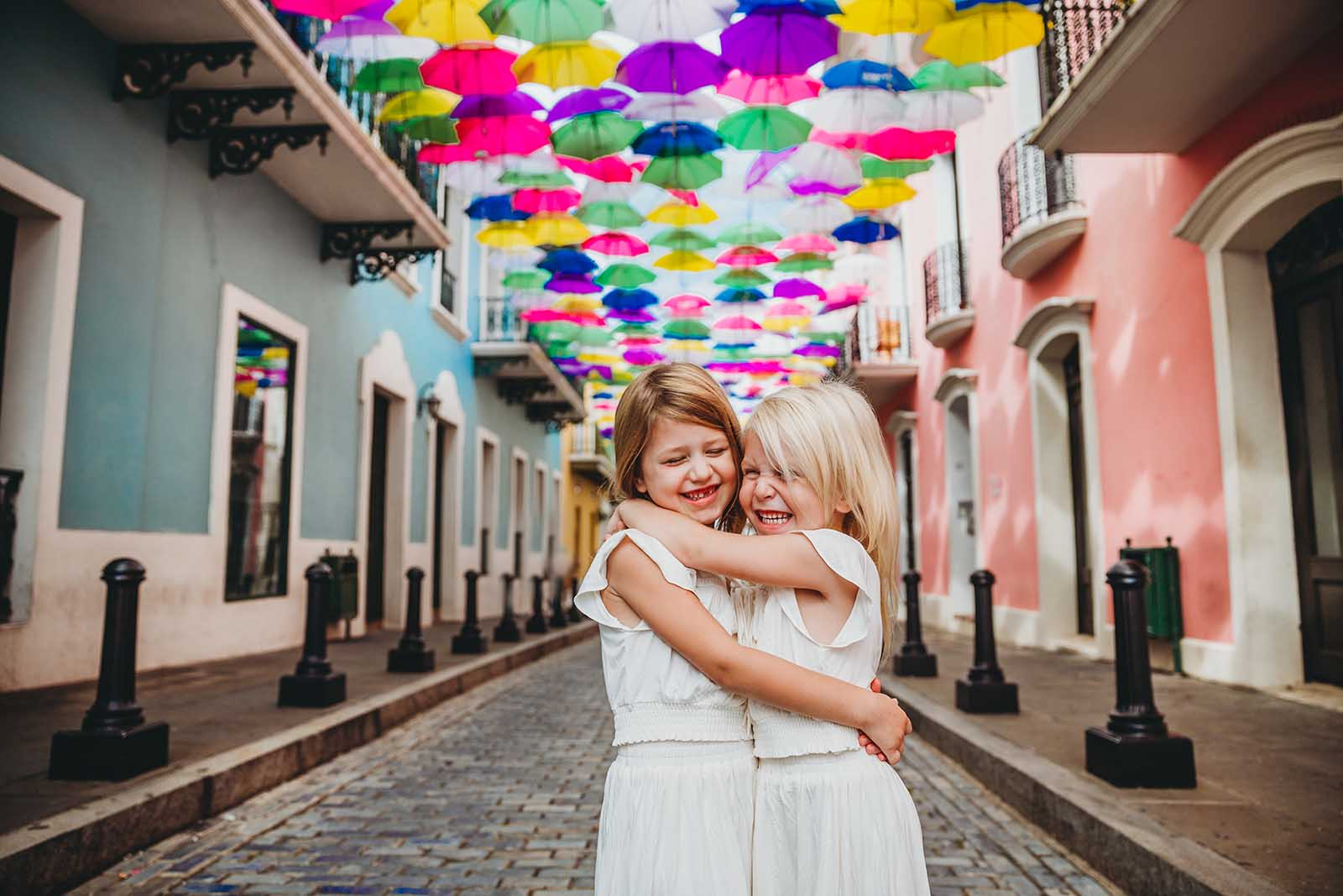 Puerto Rico street of umbrellas - how to use color in photos