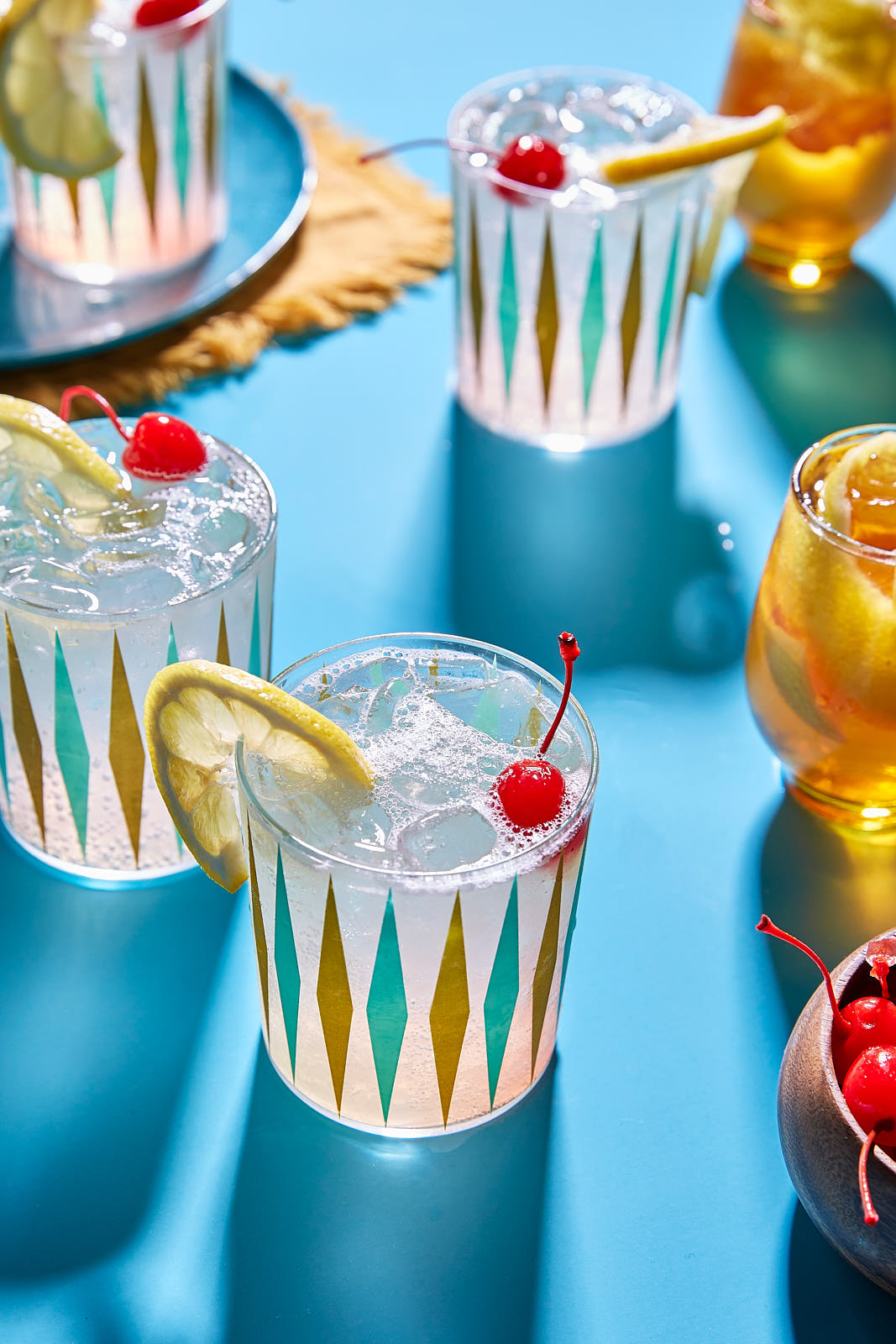 Vintage drinks photo by Shell Royster, food photographer