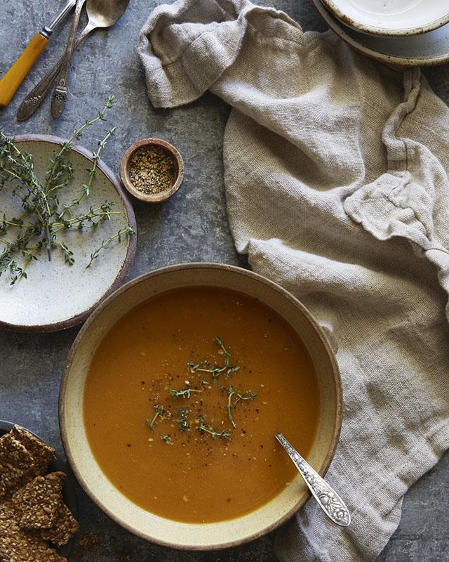 Food photography secrets - winter soup composition
