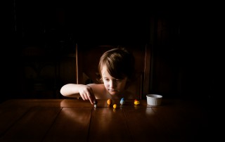 Photographing struggle - autistic child photographed quietly