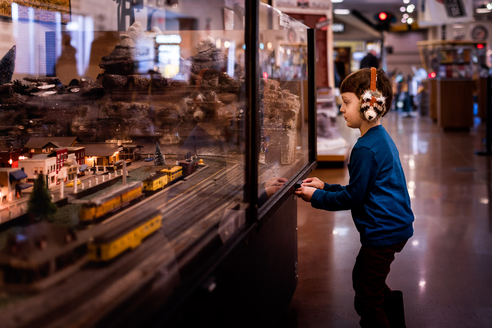 Photographing struggle - autistic child photo with train set