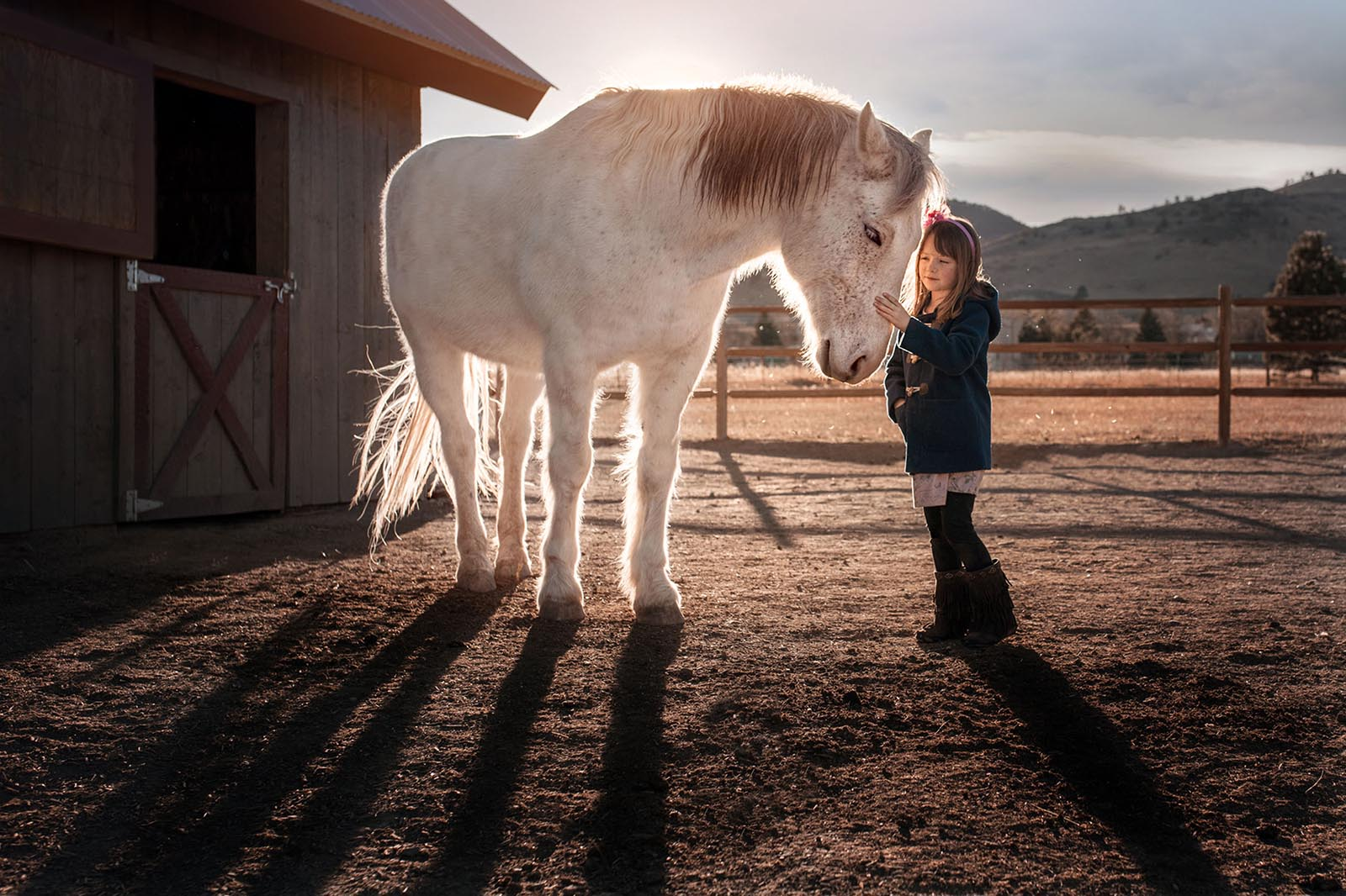 Click photo contest winner, girl and pony