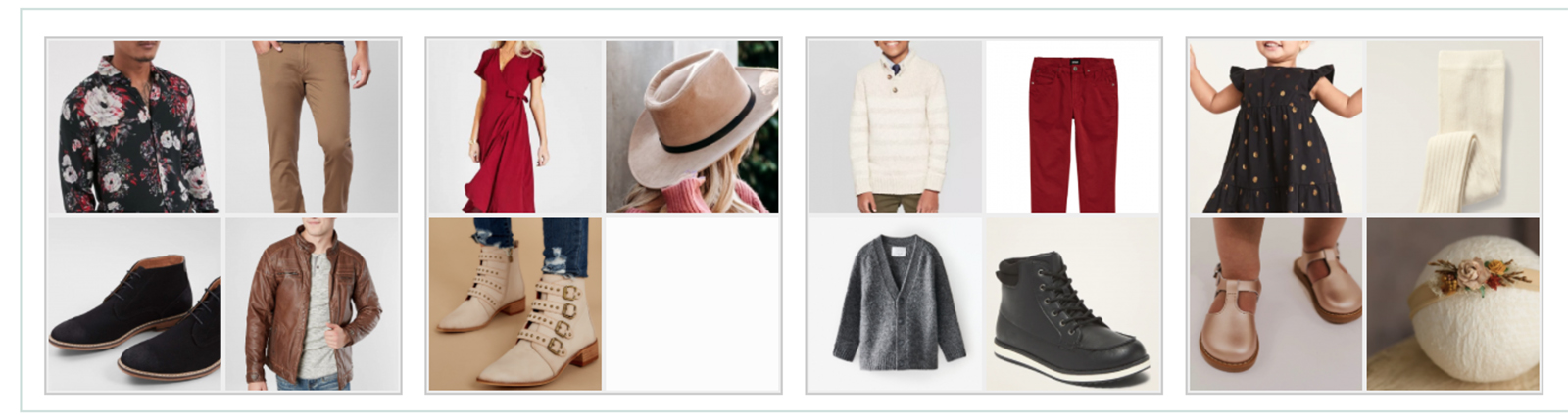 Style and Select photo wardrobe options