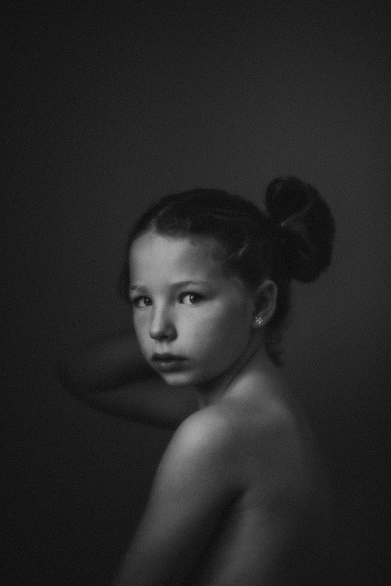 Soulful photo of a girl