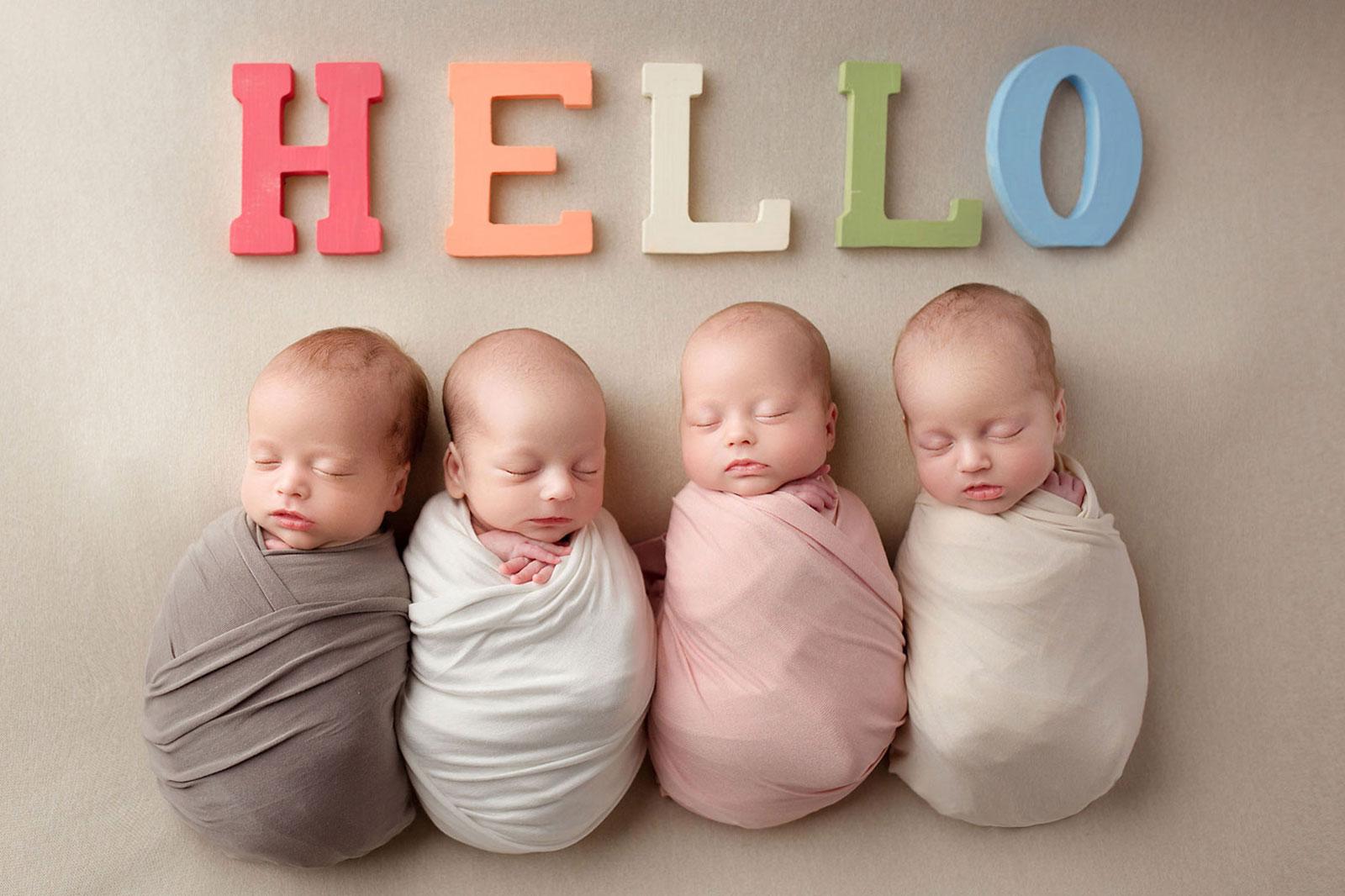 Pictures of quad rainbow babies
