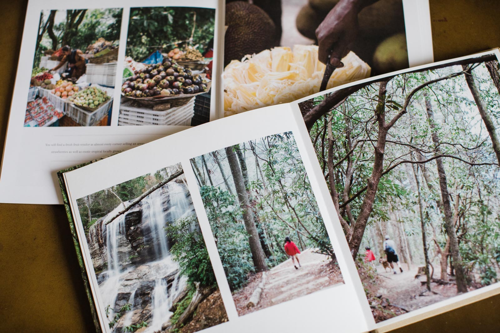 Travel photography printed in a book