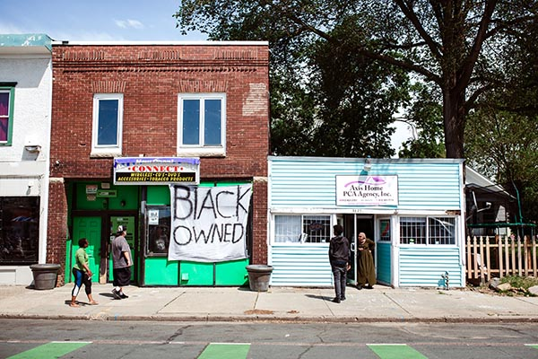 Photo of Black owned business during George Floyd protests in Minneapolis, MN