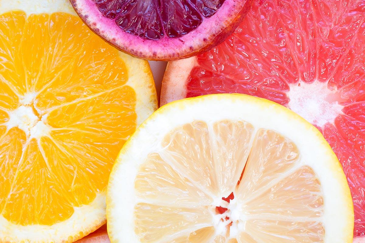 dynamic flat-lay photo of oranges
