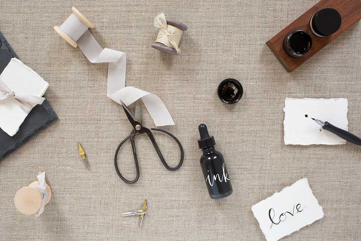 How to take flat lay photos of calligraphy, better